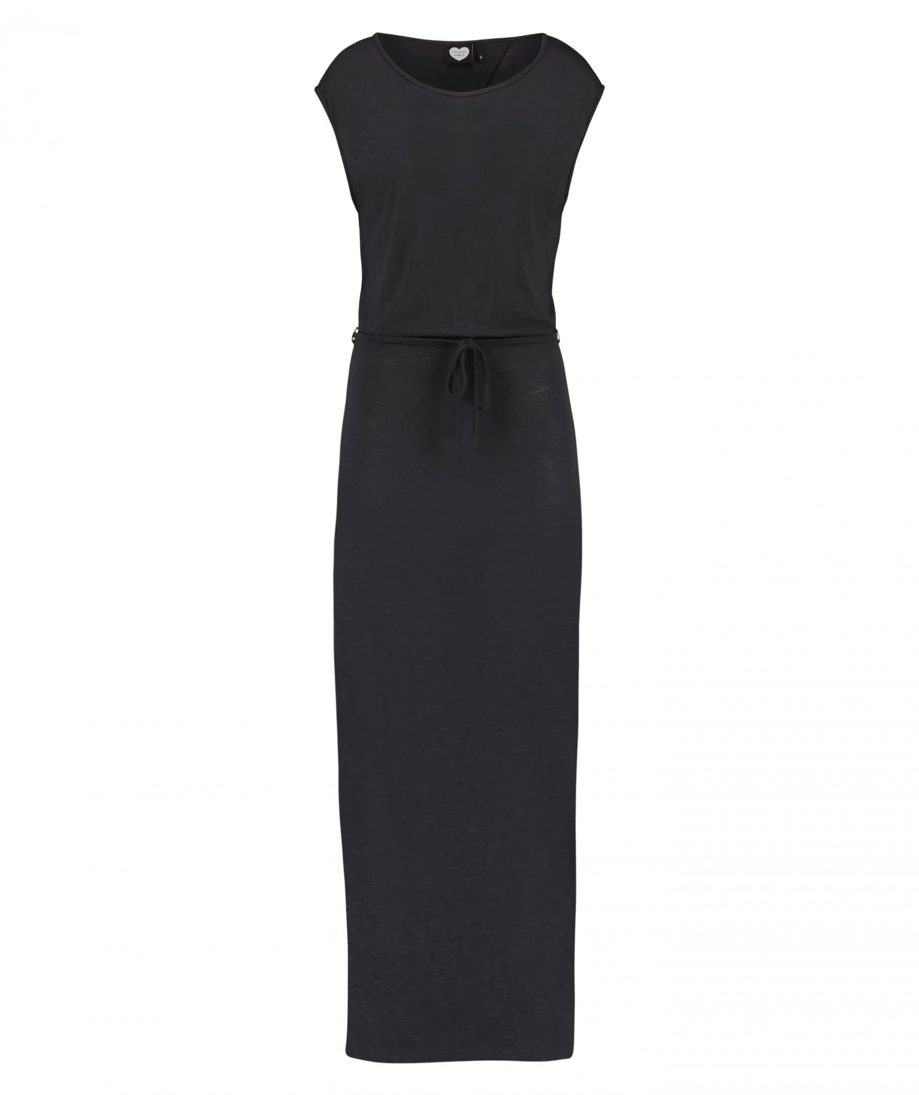 zwart lang kleed met split
