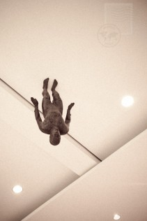feel, by anthony gormley - on the ceiling of the foyer at the wellcome collection
