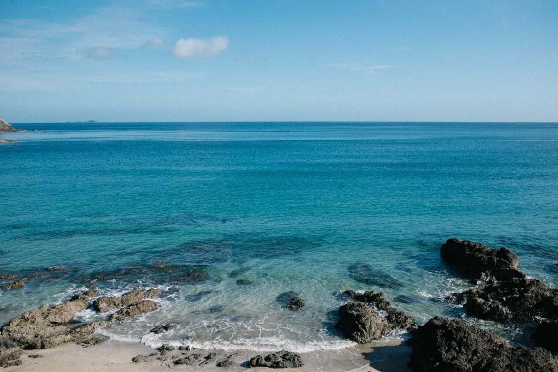 morning walk, palm beach, waiheke island, new zealand