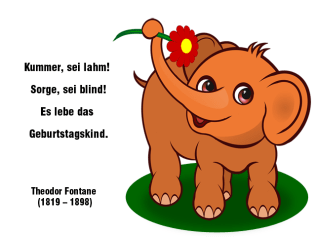 Es lebe das Geburtstagskind – Theodor Fontane