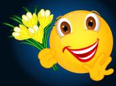 Smiley – Krokusse gelb