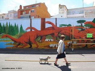 Grafitis en paredes de La Bañeza (León). 16 - agosto - 2015. Secundino Pérez