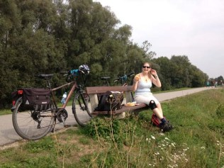 Top-notch first lunch on our cycle route