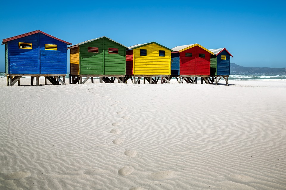 The beach houses in Muizenberg are one of its main attractions.
