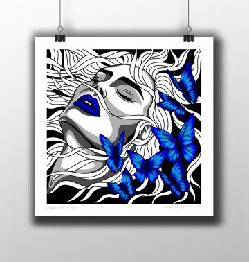 Drums with Wings Unframed Mockup
