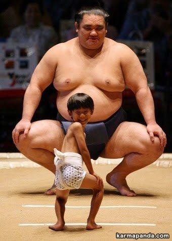 Luchador de sumo y aprendiz