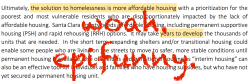 Ultimately, the solution to homelessness is more affordable housing. epifunny.