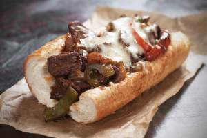 Leo's Philly cheese steak sandwich - Leo's- Philly-cheese-steak-sandwich