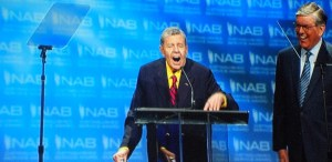 Jerry Lewis accepting NAB Achievement Award