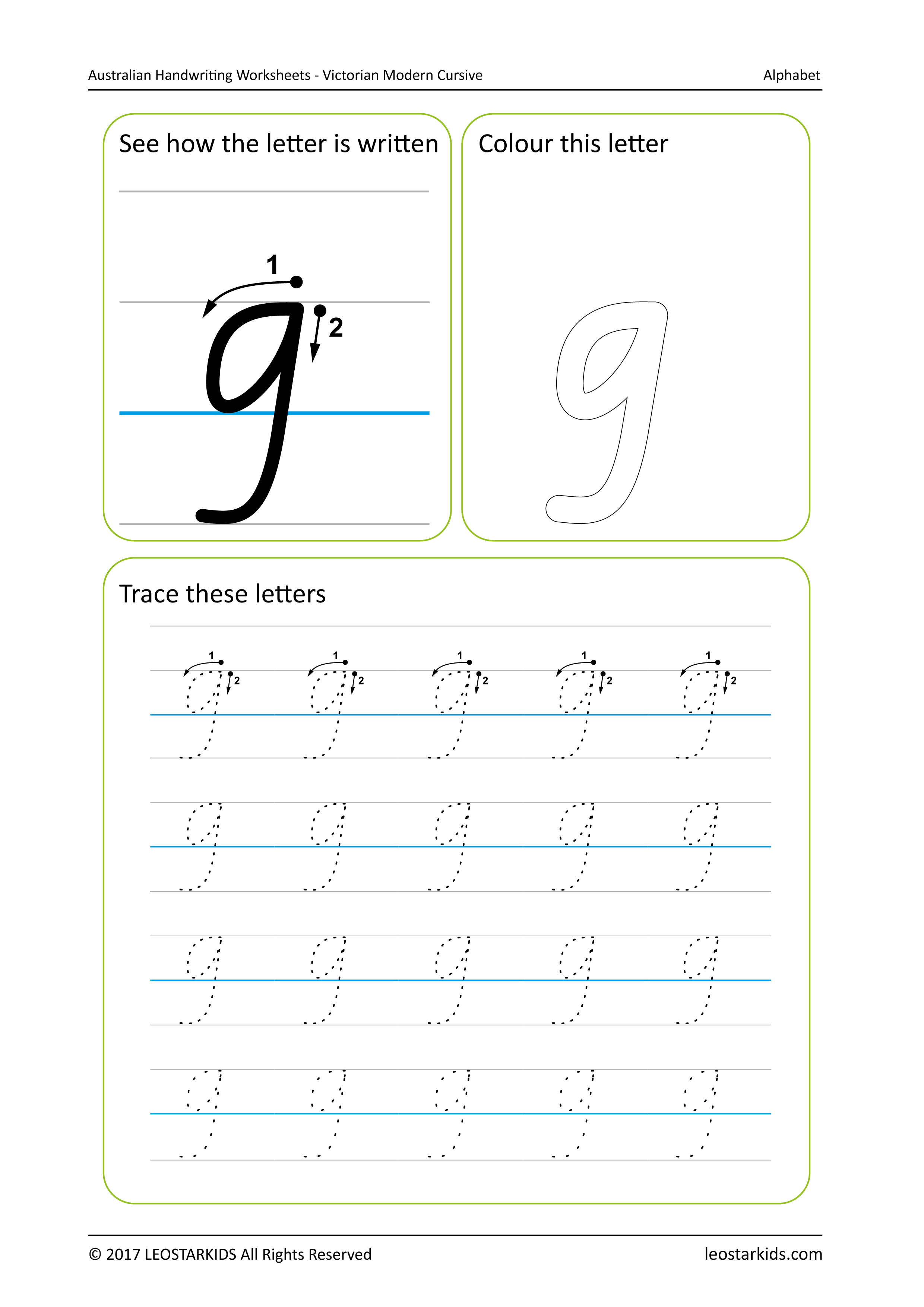 Making Worksheet Cursive