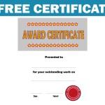 Free Certificate – Theme: Award