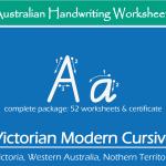 Australian Handwriting Practice Worksheets – Victorian Modern Cursive (VIC,WA,NT)