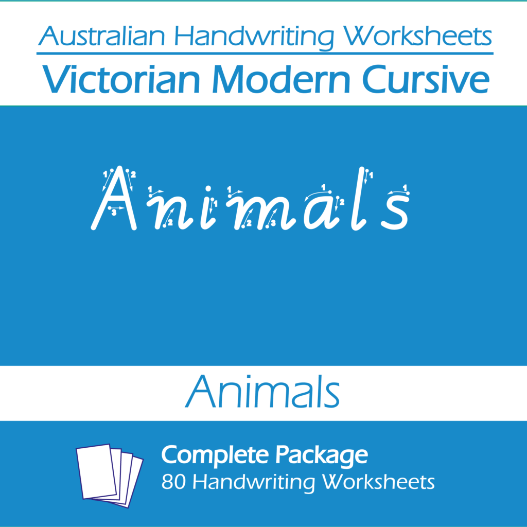 Australian Handwriting Worksheets Victorian Modern