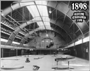 Gymnasium at Ohio State University Armory.