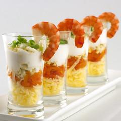 verrines crevettes recette