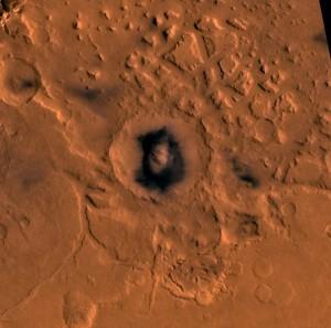Cratera Moreux, Marte