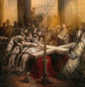 Cruzados acham o Santo Lenho a caminho de conquistar Jerusalem