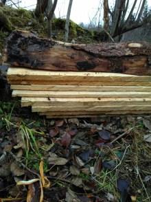 Les planches tirées avec notre scierie mobile