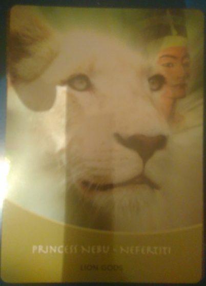 Carte tirée à mon retour à la maison... Néfertiti, la déesse féminine.