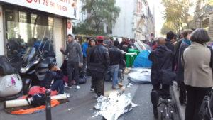 les migrants bloquer