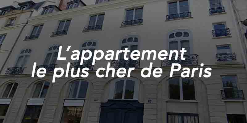 appartement le plus cher de Paris