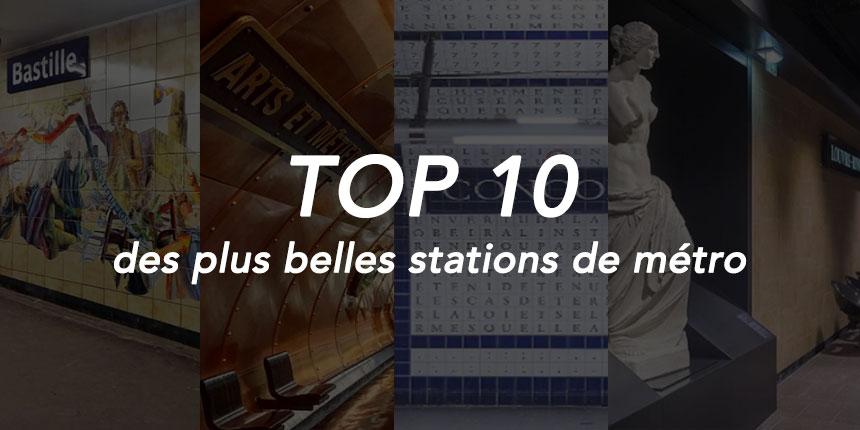 Top 10 des plus belles stations de métro de Paris