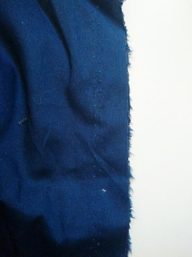 Endroit du tissu