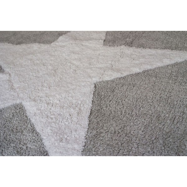 tapis etoile blanche marine