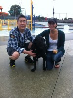Chester with his Mom & Dad