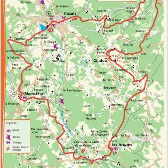Cazals 25 km 2,45 Stunden Schwierig