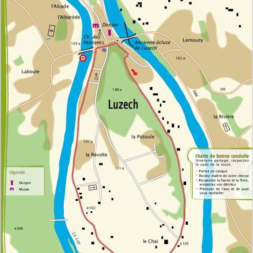 Luzech 4,2 km 25 Minuten. Sehr leicht