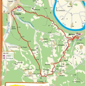 Bélaye 11 km 1,20 Stunden Einfach