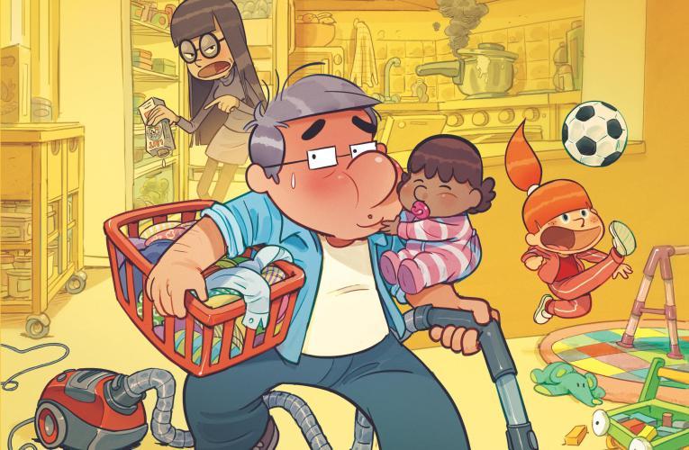 La BD « Dad – Tome 6 : Un père à tout faire » : Un papa poule toujours présent pour le bonheur de ses filles