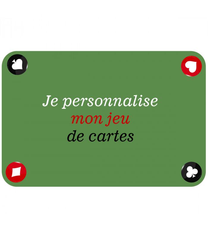 tapis de cartes personnalise