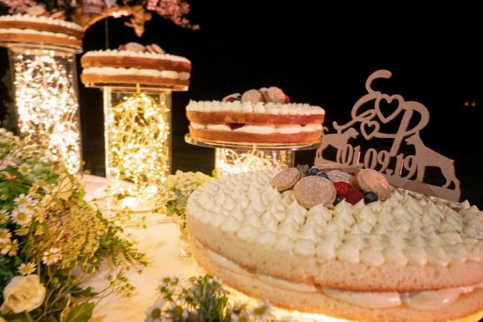 matrimonio rustico - la torta