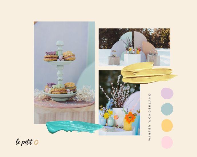 micro-wedding mood board dessert table