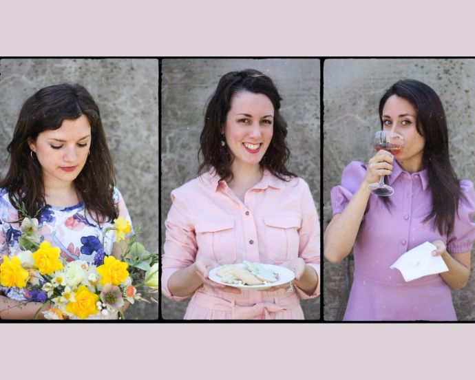Martina di Plantina Flowers, Annie di Sugarfix Udine e Alessandra di Le Petit O