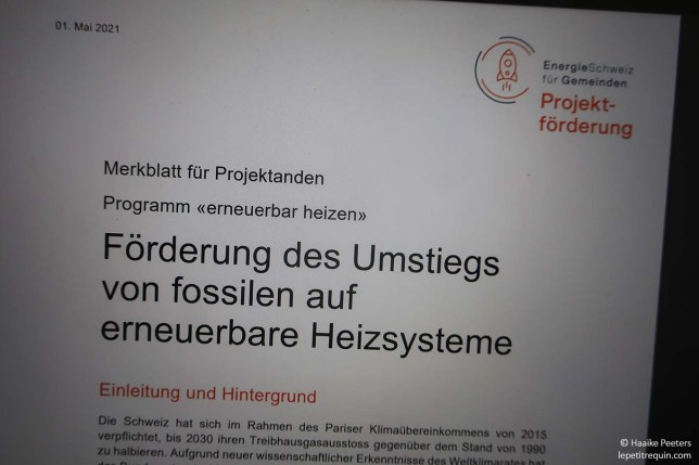 Projektförderung EnergieSchweiz (Le petit requin)