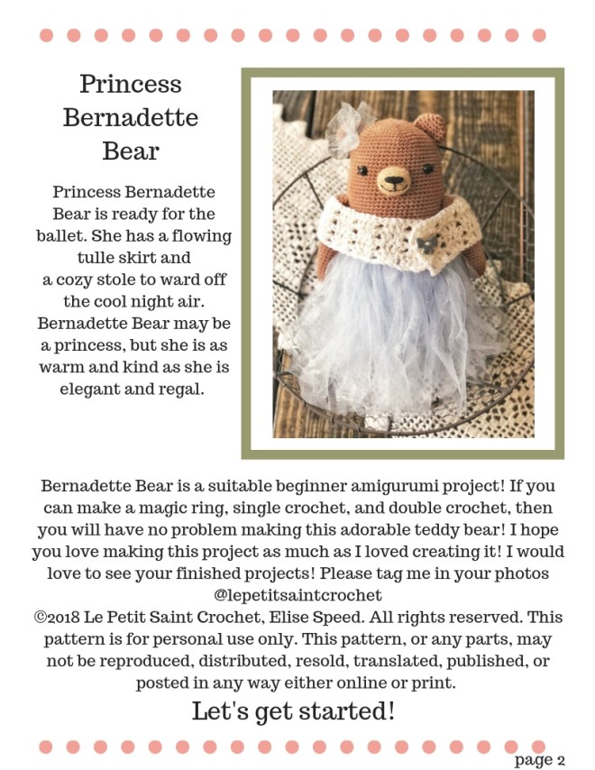 Teddy Bear Crochet Pattern - Princess Bernadette (10)
