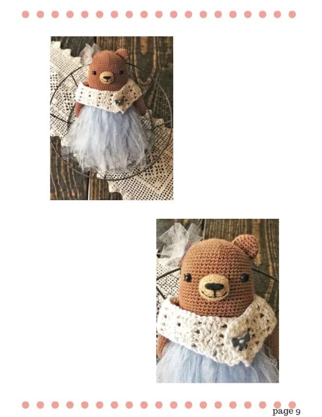 Teddy Bear Crochet Pattern - Princess Bernadette (8)