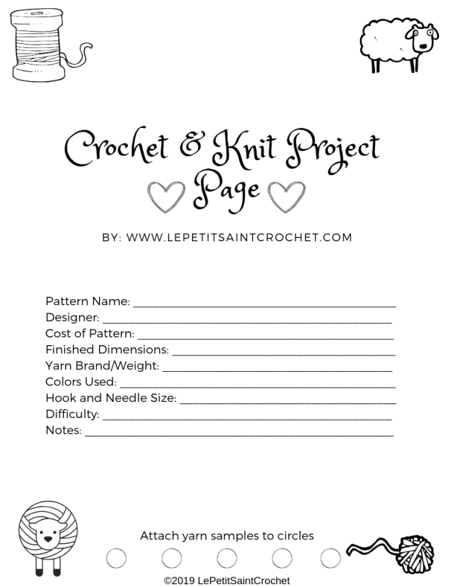 Crochet & Knit Project Page (1)