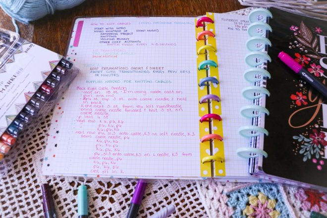 Planning for makers using the Happy Planner.