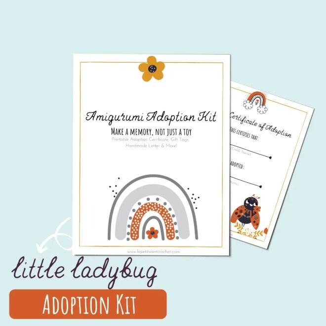 Little Ladybug Amigurumi Adoption Kit