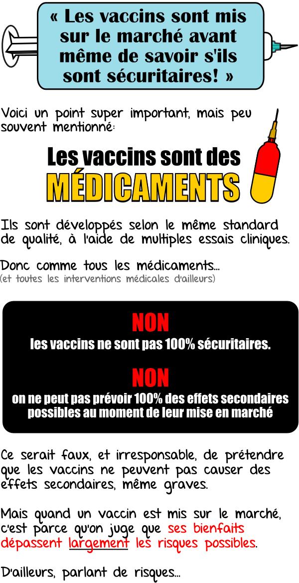 vaccins sur le marché avant de savoir si sécuritaires