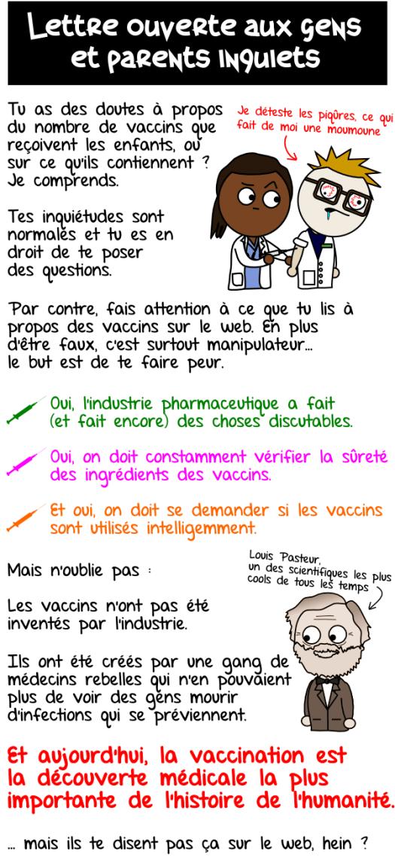 Lettre ouverte aux gens et parents inquiets à propos des vaccins