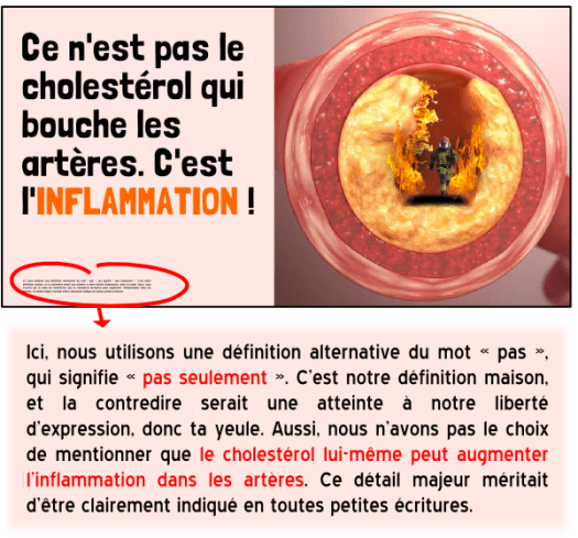 diète cétogène cholestérol artères athérosclérose inflammation