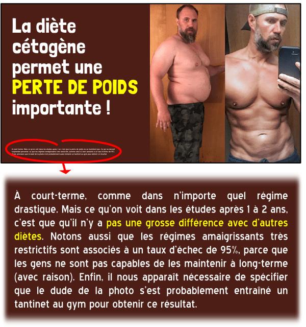 diète cétogène poids régime
