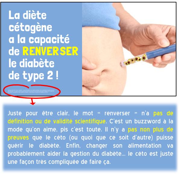 diète cétogène diabète renverser