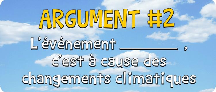 événement changement climatiques