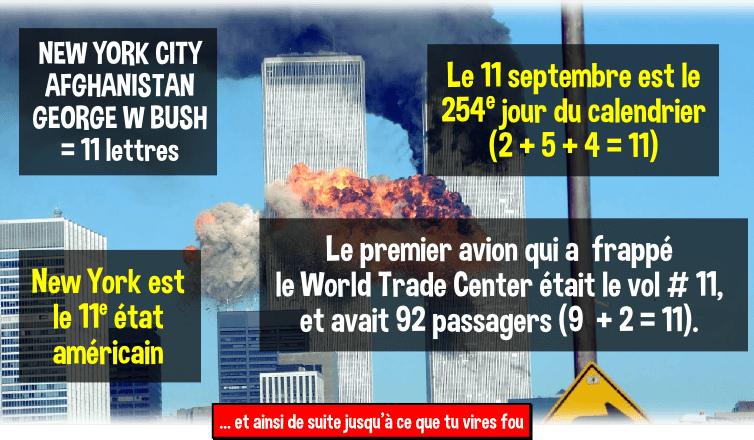 11 septembre chiffres coincidences conspiration